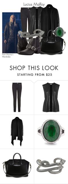 """""""Lucius Malfoy"""" by evalupin ❤ liked on Polyvore featuring Alexis Mabille, Acne Studios, DKNY, Sole Society, Givenchy, Theo Fennell, McQ by Alexander McQueen, harrypotter, Malfoy and luciusmalfoy"""