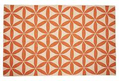 Brentwood Rug, Orange/Ivory on OneKingsLane.com 8 x 10 $455