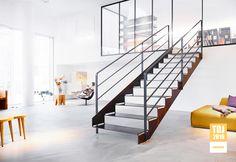 Metalltreppe als Designtreppe von spitzbart treppen