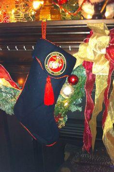 Marine Corp Christmas tree EGA as topper | christmas tree ...