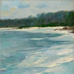 Late Autumn on Aland - Victor Westerholm Finnish Oil on canvas, cm. Late Autumn, Chur, Lake Water, Painted Plates, Seascape Paintings, Oil On Canvas, Scandinavian, Art Photography, Waves