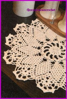 Cute doily for your home... Lindo tapetito para su casa!