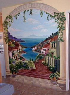 Italian Villa - Mural Idea in Buena Park CA