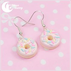 martiansugar:  Pink Donut Earrings $10