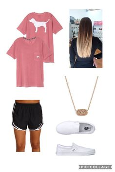 """Summer ☀""""by alexis may ❤ cute clothes trendy outfits, fashion outfits, Cute Outfits For School, Cute Comfy Outfits, Sporty Outfits, College Outfits, Trendy Outfits, Lazy Day Outfits For Summer, Lazy Outfits, Cute Athletic Outfits, Casual Summer"""
