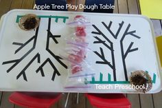 Apple Tree Playdough Table by Teach Preschool