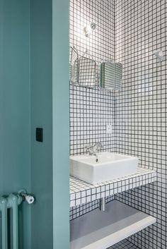 Osez le carreau dans votre salle de bain ! ;)