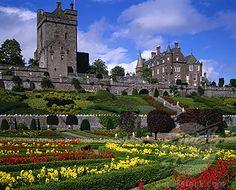 UK - Scotland, Central, Crieff - near, Castles - Drummond Castle and gardens