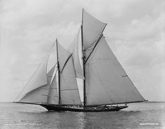 General Charles Jackson Paine's yacht Volunteer (Edward Burgess design, 1887), recently converted to a schooner. She had previously defended the America's Cup in 1887 with a sloop rig.