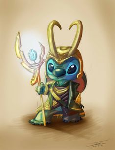 This is brilliant! (This can go with my other post) Stitch as LOKI (Lee Liebeskind)
