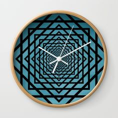 Eternally Blue wall clock by LLL Creations.  This design is available on many different products.  #society6 #wallclocks #blue #clocks #LLLCreations
