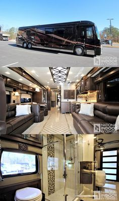 Arts And Crafts Clipart Luxury Campers, Luxury Motorhomes, Luxury Rv Living, Private Jet Interior, Luxury Van, Van Conversion Interior, Motorhome Interior, Class A Rv, Trailers