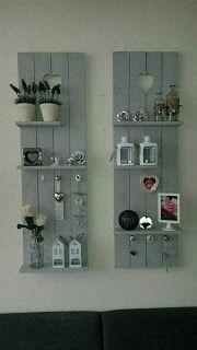 Shutter Style Wall Shelves Made From Pallets --- #pallets #Palletprojectsshelves