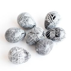 Hand Carved Soapstone Eggs