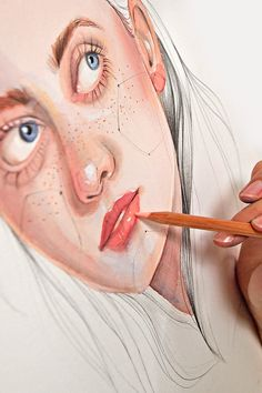 Learn to combine traditional techniques and digital retouching with Photoshop in this Domestika online course. Watercolor Illustration, Watercolor Paintings, Art Sketches, Art Drawings, Kristina Webb, Ad Photography, Wedding Painting, Drawing Letters, Best Sketchbook