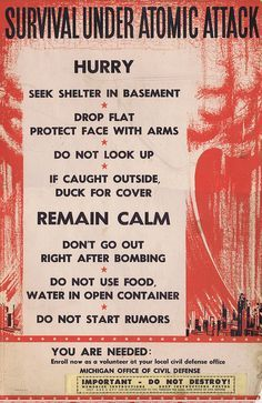 """Survival Under Atomic Attack"""