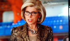 I swear only Diane Lockhart can pull off her look #thegoodwife