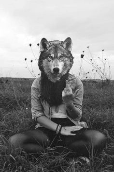 Image uploaded by Olympia. Find images and videos about black and white, hipster and animal on We Heart It - the app to get lost in what you love. Animal Masks, Animal Heads, Der Steppenwolf, Foto Poster, Wild And Free, Red Riding Hood, Black And White Photography, Rock And Roll, Creepy