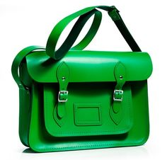 Our Classic Green satchel taking centre stage on Vogue.com