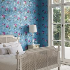 Since Graham & Brown has been designing and manufacturing wallpaper for your home. Shop for exclusive wallpaper designs and the latest wall coverings now. Interior Desing, Rose Wallpaper, Blue Wallpapers, Contemporary Bedroom, Designer Wallpaper, Pattern Wallpaper, Living Room, Graham Brown, Home Decor