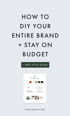 DIY your branding and stay on budget with our FREE style guide! branding tips Social Media Branding, Business Branding, Personal Branding, Small Business Marketing, Social Media Marketing, Content Marketing, Affiliate Marketing, Online Marketing, Marketing Branding