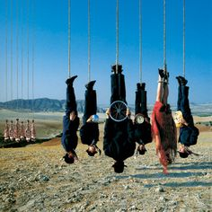 Credit: Storm Thorgerson/Taken By Storm Alan Parsons – Try Anything Once (1993) Storm says: 'The title suggested something a touch reckless, perhaps, or at least a departure from normal behaviour. We joined this thought with the image of a bungie jump from a high bridge on television – wondering what on earth people would do for a thrill.'