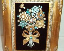 jewelry framed bouquet - Google Search