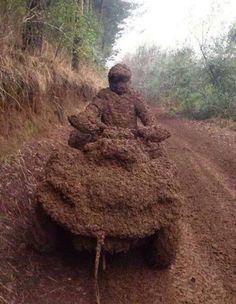 Pluie + Boue + feuilles = Rain + mud +leaves #quad nature #omg #funny #lol