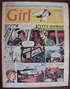 Comics Girls, Every Girl, Dandy, Boy Or Girl, Sisters, Eagle, British, Kitty, Baseball Cards