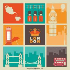 London Graphics Free Vector