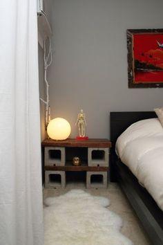 Decoração com blocos de concreto pode sim, ser muito interessante (Foto: apartmenttherapy.com)