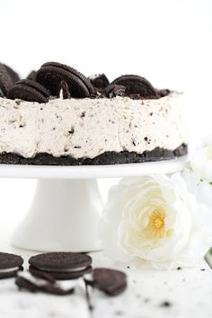 Nopea ja herkullinen Oreo-juustokakku, liivatteeton - Suklaapossu Panna Cotta, Cheesecake, Deserts, Food And Drink, Baking, Ethnic Recipes, Tarts, Random, Kids
