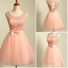2016 peach pink lace lovely for teens modest formal homecoming prom gowns dress The peach pink lace lovely homecoming dresses are fully lined, 8 bones in the bodice, chest pad in the bust, lace up back or zipper back are all available, total 126 colors are available This dress could be custom made, there are no extra cost to do custom size and color. Description 1, Material:lace, tulle, pongee, elastic silk like stain. 2, Color: picture color or other colors, there are 126 colors are ava...