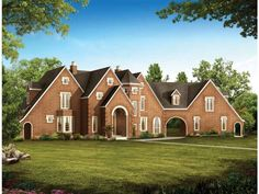 Eplans French Country House Plan - Modern-Day Camelot - 2403 Square Feet and 4 Bedrooms from Eplans - House Plan Code HWEPL00888