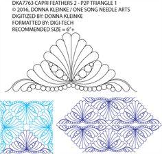 Капри Перья 2 - P2P Треугольник 1 Донна Kleinke / One Song Needle Arts DKA7763