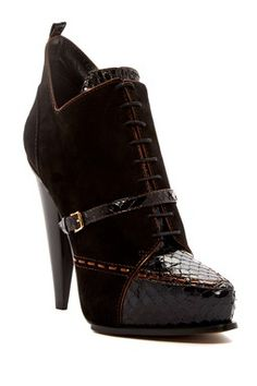 DEREK LAM Donya Lace-Up Bootie