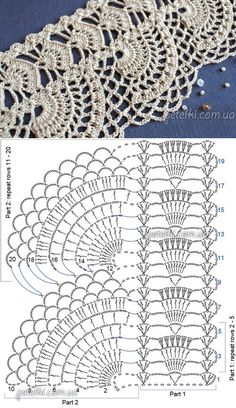 Crochet Bedspread Pattern, Crochet Edging Patterns, Crochet Mandala Pattern, Lace Knitting Patterns, Crochet Lace Edging, Crochet Diagram, Crochet Art, Thread Crochet, Crochet Designs