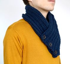 Mens scarf Handmade Crocheted Winter scarf Mens by MellyBoutique