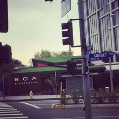 BOA Steakhouse on Sunset Boulevard in West Hollywood. Also, enjoy the other BOA down in Santa Monica near the pier. #GlitteratiToursLA