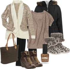 """""""Brown Winter"""" by michelleruth on Polyvore"""