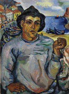 Artwork by Irma Stern, Fisherman, Madeira, Made of oil on canvasboard Ikea Paint, Contemporary African Art, South African Artists, Africa Art, Galleries In London, Painting People, Art Auction, Beautiful Paintings, New Art