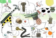 Roger Chouinard: found object animals