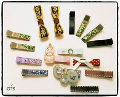 my work: kids hair clips *photo by afs