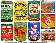 Motor Oil Art Paper Decor Garage Signs Printed Sheet Garage