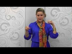 """A scarf can really enhance your look when you know how to wear it and Just Jewelry will show you how to add the """"IT"""" accessory to your seasonal wardrobe.   Our trend-right, patterned scarves are incredibly versatile! Give any ensemble a stylish new spin by changing the way you wear your scarf. This video features tips for getting extra style miles from our gorgeous printed scarf selection!"""