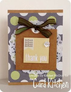 Thank you Card by Kimber McGray for the Card Kitchen Kit Club from January 2014 Card Kitchen Kit