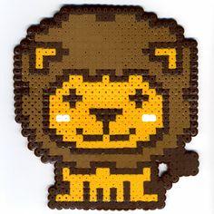 lion - hama beads