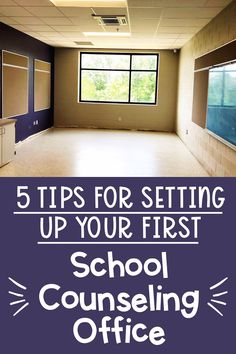 5 Tips for Setting Up Your First School Counseling Office - The Responsive Counselor School Counselor Organization, School Counselor Office, School Guidance Counselor, Middle School Counseling, Elementary School Counselor, Counseling Office Decor, Counseling Quotes, Counseling Activities, Career Counseling