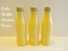 coke bottle flower vases by ODE