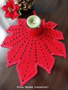 Leaf candle holder for Christmas!   ***   Hoja Portavela para Navidad!                                          Thank you very much f...